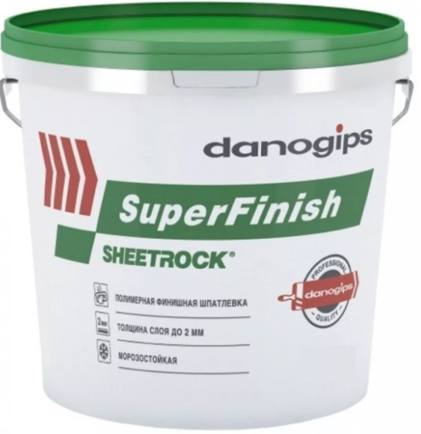 Шпаклевка Sheetrock Danogips Superfinish 3л/5кг  зеленая крышка