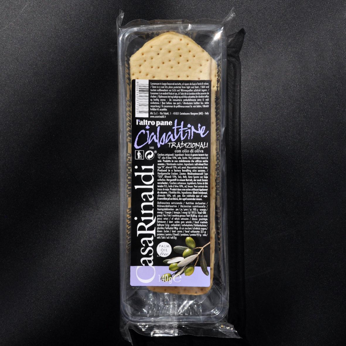 Хлебцы Casa Rinaldi Чиабаттини классические 140г