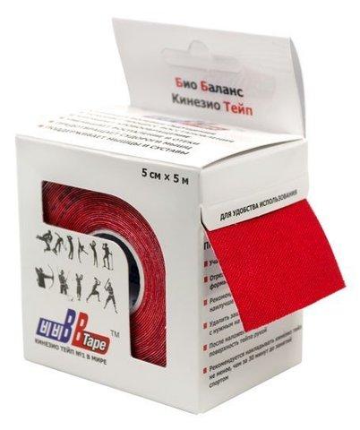 ВВ кинезиотейп 5 смх5м (красный)