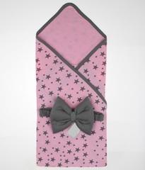 Летний конверт на выписку из роддома Лето розовый