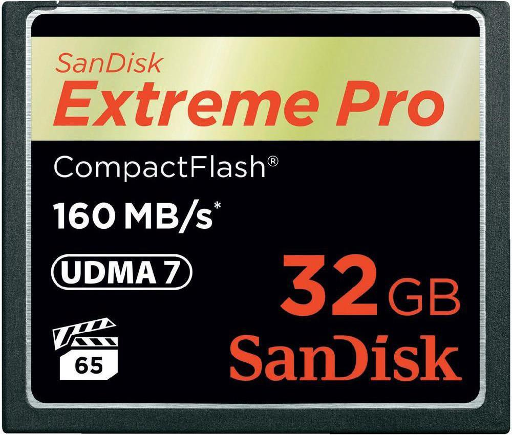 Compact Flash 32Gb Sandisk Extreme pro 1067x 160MB/s