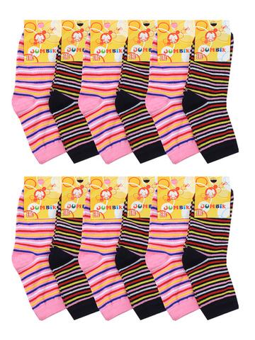 BSA19  носки детские (12 шт.). цветные