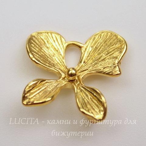 """Подвеска """"Цветочек"""" (цвет - золото) 15х15 мм"""
