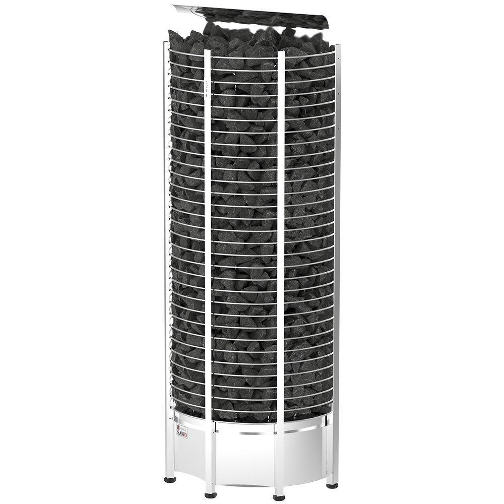 Серия Tower: Электрическая печь SAWO TOWER TH6-120NS-WL-P (12 кВт, выносной пульт, пристенная) электрокаменки комплект sawo set002 электрическая печь tower th6 90ni wl пристенная пульт управления innova classic s inc s