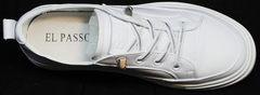 Женские кожаные спортивные туфли в виде кроссовок El Passo sy9002-2 Sport White.