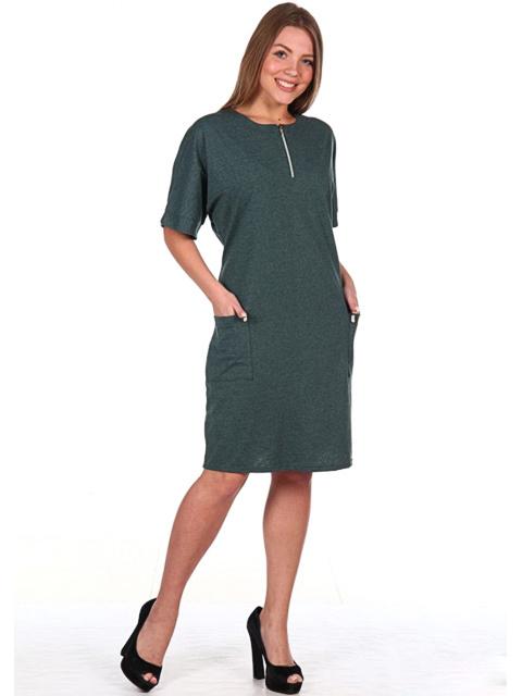 35A Платье женское, зеленое