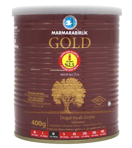 Оливки черные GOLD M, Marmarabirlik, 400 г