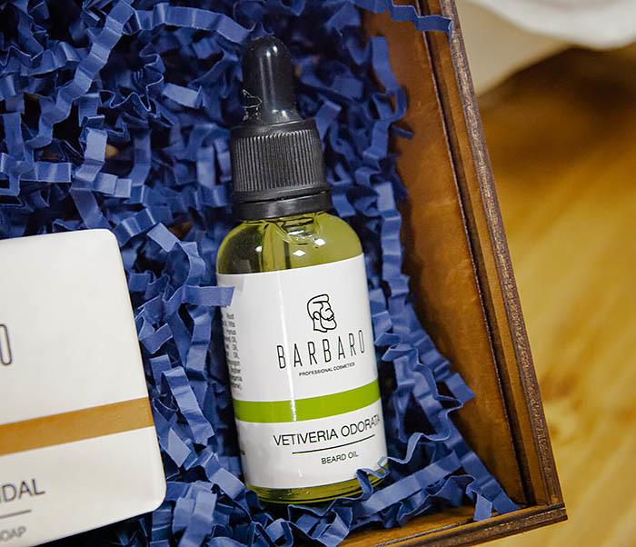 Набор для ухода за бородой с мылом и маслом Barbaro «Vetiveria Odorata» фото 03