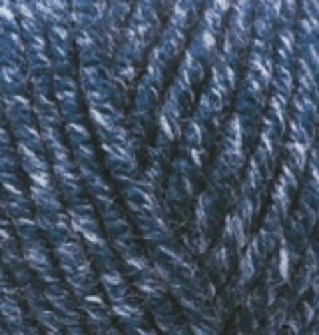 Пряжа Superlana MIDI 805 темно синий жаспе Alize