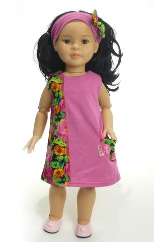 Платье трикотажное - на кукле. Одежда для кукол, пупсов и мягких игрушек.