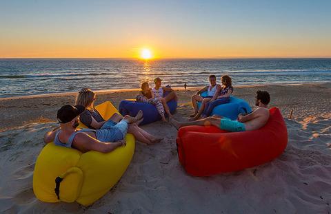 Надувной диван (Lamzac) Premium Синий