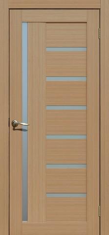 Дверь Porte line Берлин 17, стекло матовое, цвет тиковое дерево 3D, остекленная