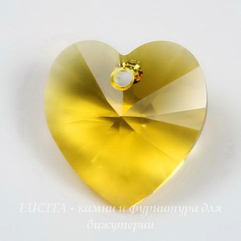6228 Подвеска Сваровски Сердечко Sunflower (10,3х10 мм) ()