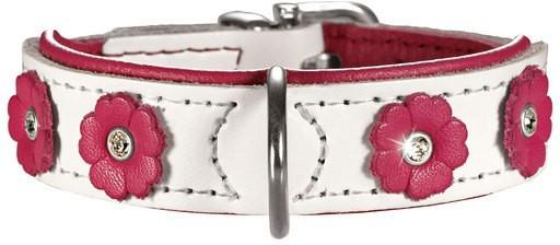 Ошейники Ошейник для собак Hunter Daisy 32 (24-28 см) кожа с цветочками белый/розовый 61590.jpg