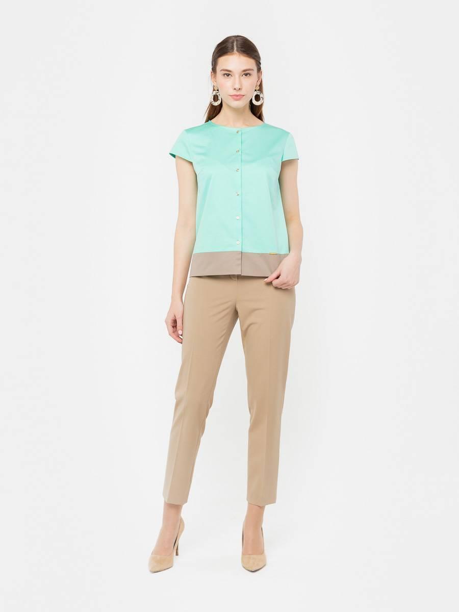 Брюки А468-775 - Укороченные брюки классической формы, без карманов. Идеальный летний вариант для делового или повседневного образа. Прекрасно сочетается с любым видом верха и обувью.