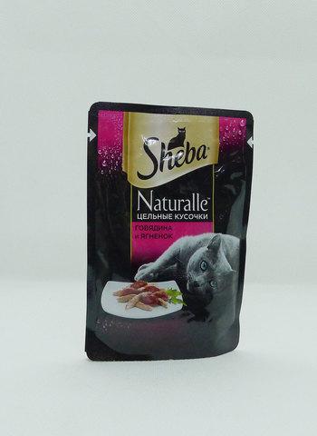 Sheba Naturelle пауч для взрослых кошек (с говядиной и ягненком) 80г