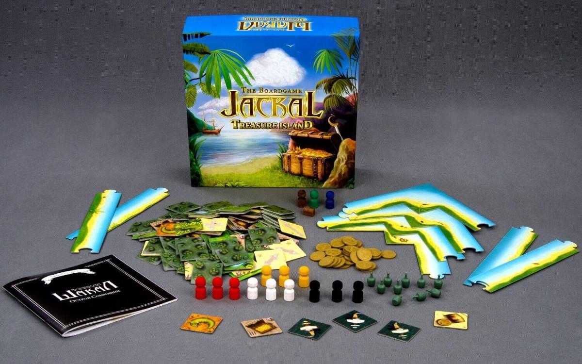 Настольная игра Шакал: Осторов сокровищ (Jackal: Treasure Island) - КОМПЛЕКТАЦИЯ