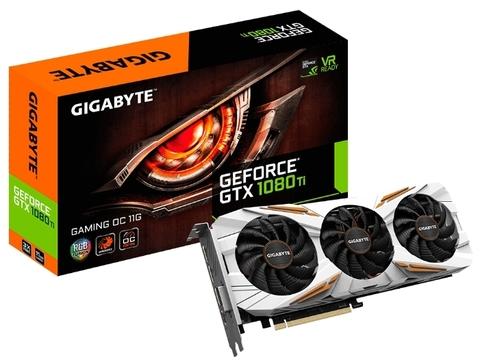 GIGABYTE GeForce GTX 1080 Ti 1544Mhz PCI-E 3.0 11264Mb 11010Mhz 352 bit DVI HDMI HDCP Gaming OC