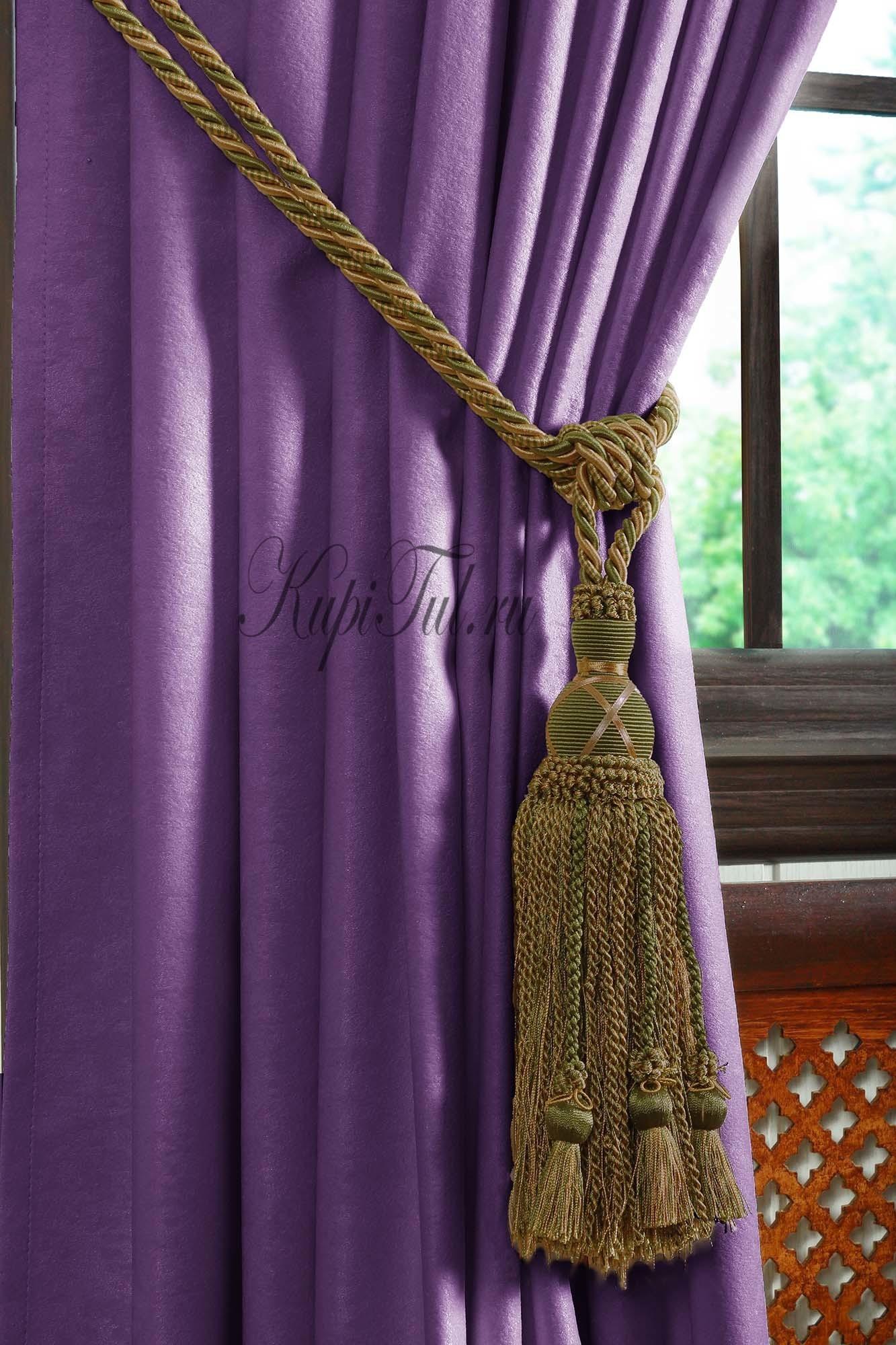 Длинные шторы. Mild (фиолетовый).