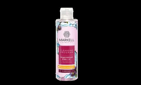 Markell Cleansing Program Мицеллярная вода 3 в 1 Пассифлора и ламинария д/всех типов кожи 200мл