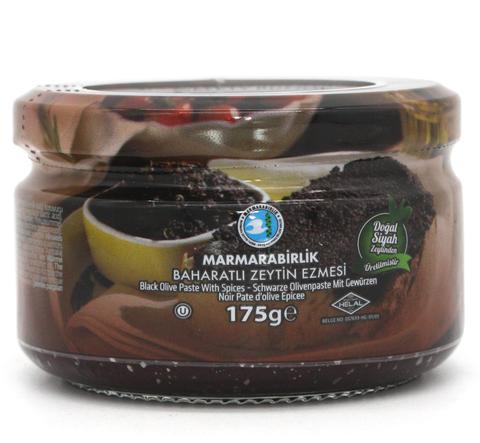 Оливковая паста черная со специями, Marmarabirlik, 175 г