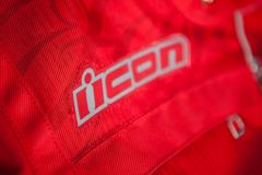 Мотокуртка - ICON HELLA 2 (женская, текстиль, красная)