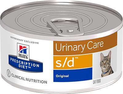 Влажные корма Ветеринарный корм для кошек для растворения струвитов Hill`s Prescription Diet s/d сд.png