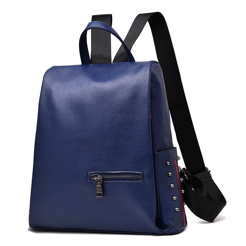 Женский средний рюкзак 30х30х14 см синий 3378-3