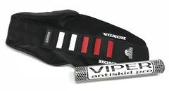 Чехол сиденья Honda CRF 250 18 и CRF 450 17-18 Бело-Красные вставки
