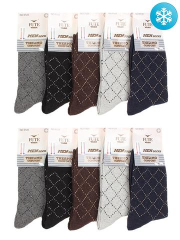 9125B носки мужские с ангорой, 40-44 (10 шт.)