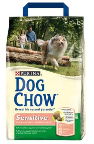 Dog Chow Dog Для чувств. собак с лососем и рисом (sensitive) 14 кг