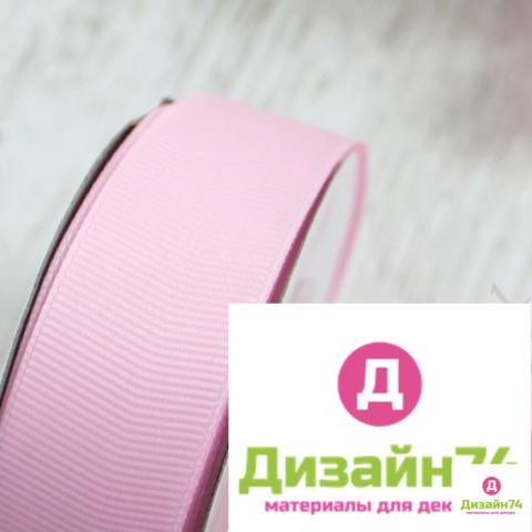 Лента репсовая 2,5см (розовая № 04)
