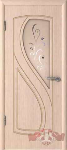 Дверь Владимирская фабрика дверей 10ДО5, цвет беленый дуб, остекленная
