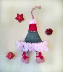 Новогодняя игрушка-подвеска