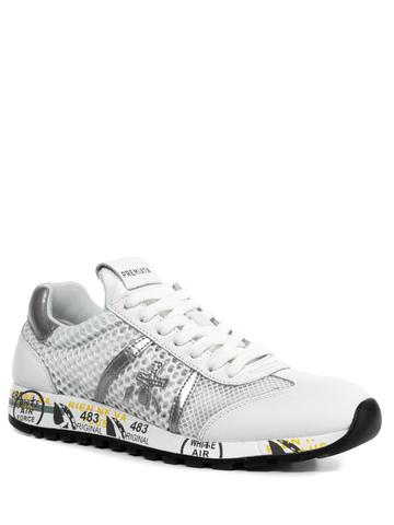 Комбинированные кроссовки Premiata Lucy-D 4636 на шнуровке