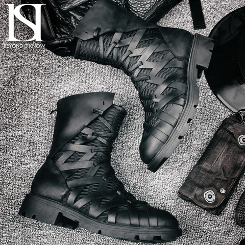 Высокие ботинки на шнуровке «HIMIA» купить