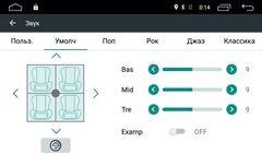 Штатная магнитола на Android 8.1 для Toyota Corolla E170 12-16 Ownice G10 S1617E