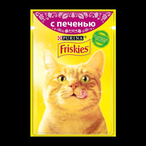 Friskies Консервы для кошек с Печенью в подливе (Пауч)