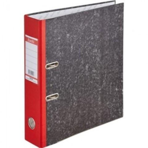 Папка с арочн.мех.BANTEX мрамор 1425-09, 70мм  красный