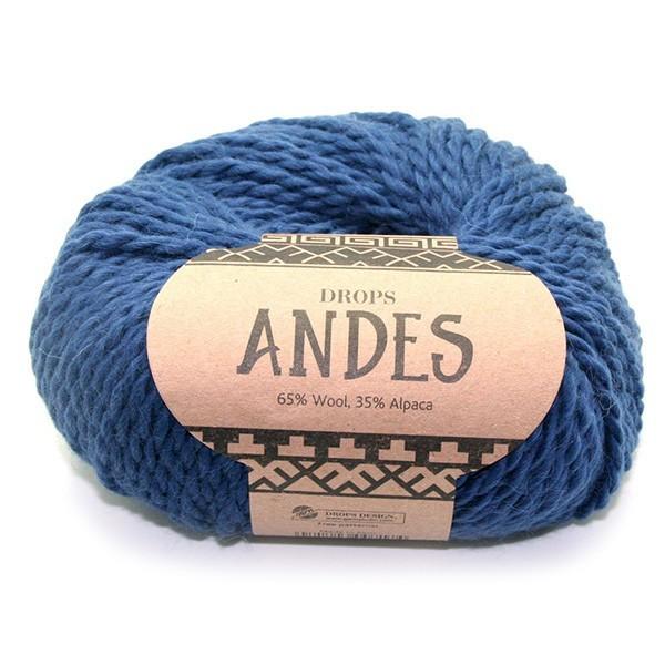 Пряжа Drops Andes 6928 синий