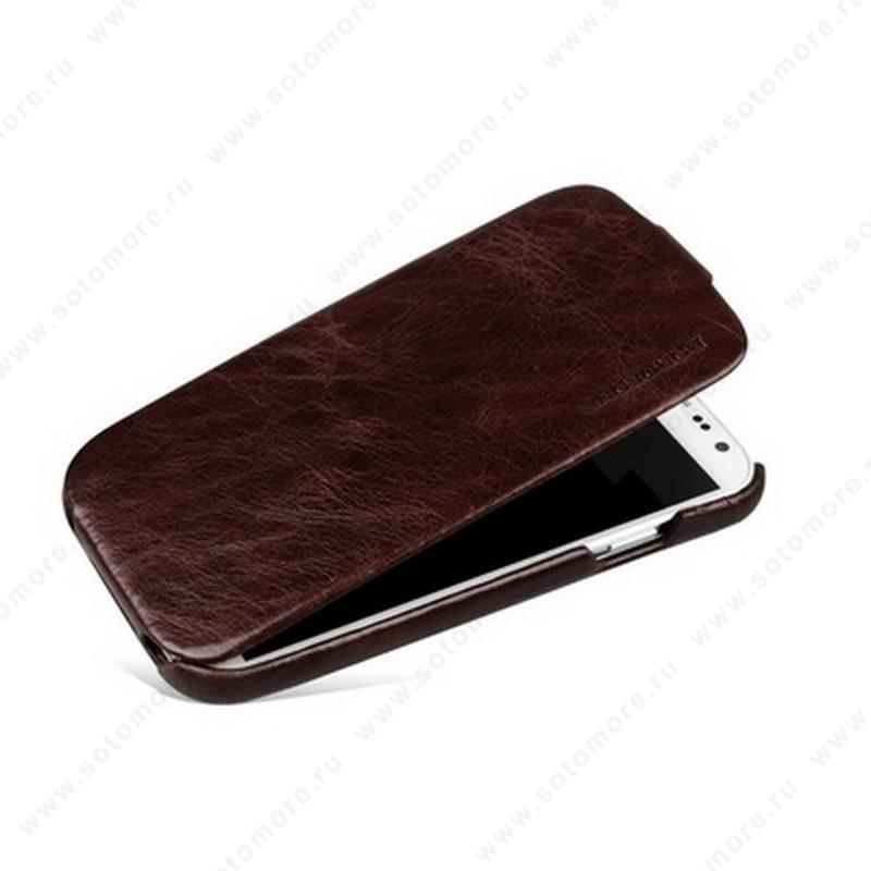 Чехол-флип Borofone для Samsung Galaxy S4 i9500/ i9505 - Borofone General Leather Case Coffee