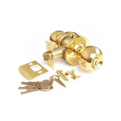 Ручка-защелка, Arsenal 607, с ключом, РB, Золото