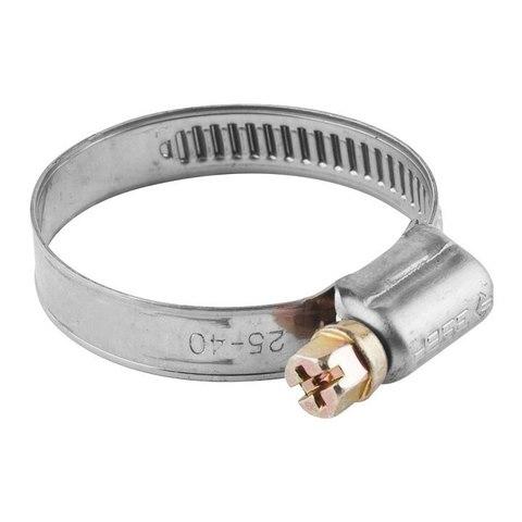 Хомуты, нерж. сталь, накатная лента 12 мм, 20-32 мм, 100 шт, ЗУБР Профессионал