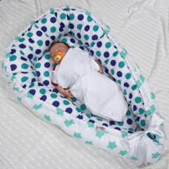 Farla. Кокон-гнездо для младенца Nest Мятный