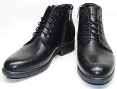 Зимние ботинки мужские кожаные с мехом Ikoc 2678-1 S