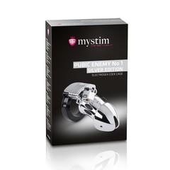 Мужской пояс верности MYSTIM Pubic Enemy No 1 - Silver Edition