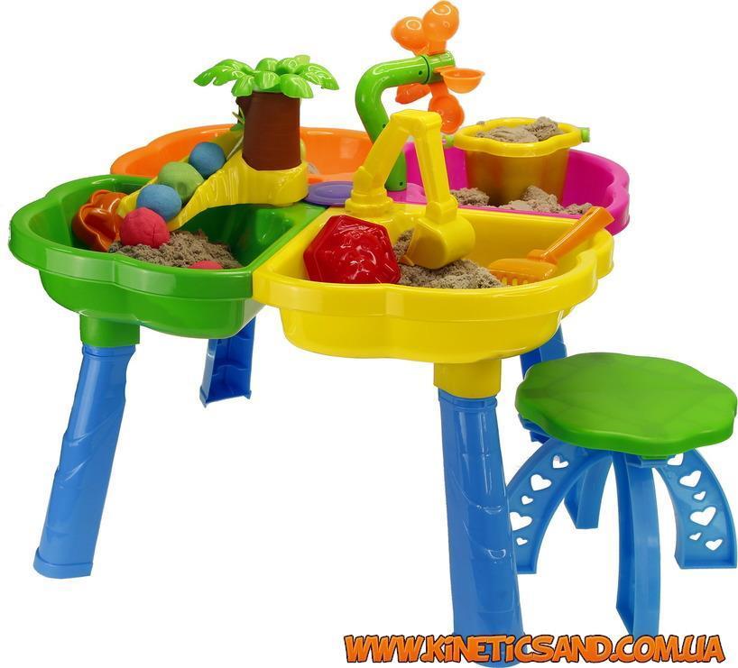 Столик + стульчик для игры с кинетическим песком KinderWay