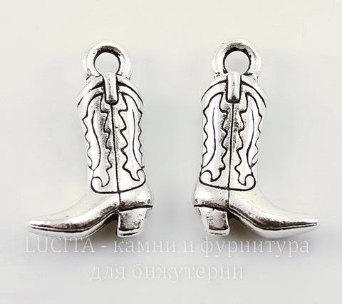 "Подвеска TierraCast ""Сапог"" (цвет-античное серебро) 19х12 мм"