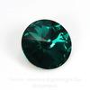 1122 Rivoli Ювелирные стразы Сваровски Emerald (14 мм)