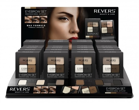 REVERS Тени для бровей 18г EYE BROW SET PROFESSIONAL STYLIST (*24)